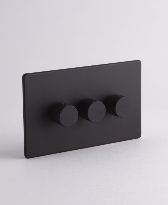 designer dimmer switch Treble black