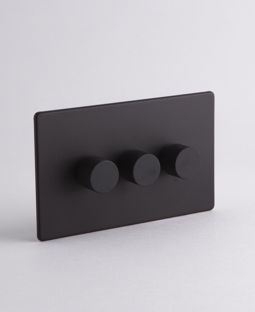 designer dimmer switch Treble black