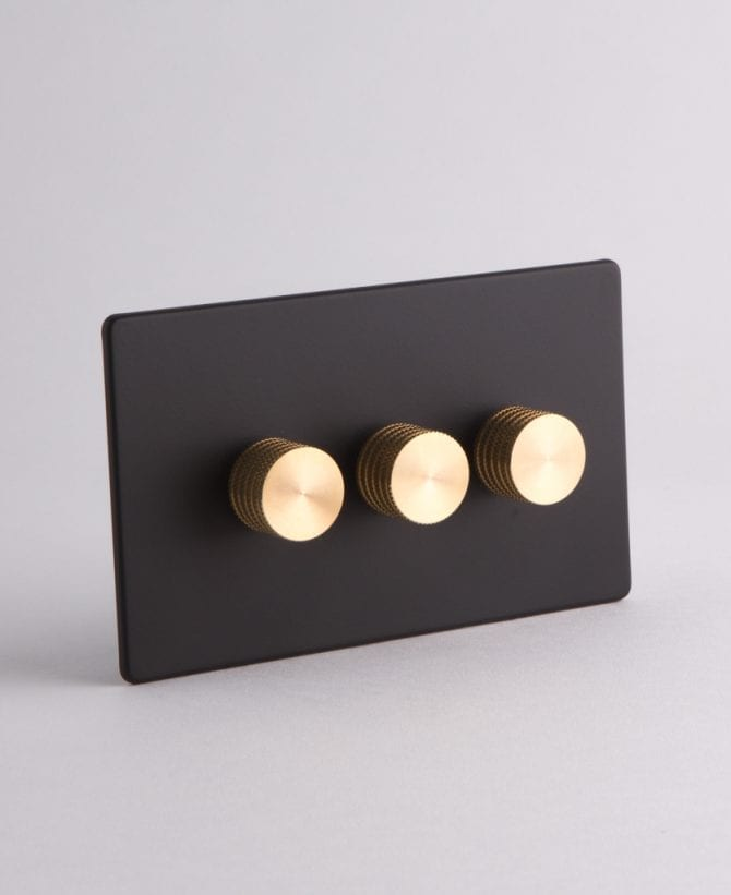 designer dimmer switch treble black & gold