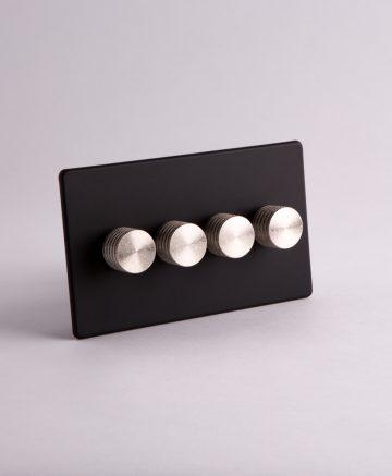 designer dimmer switch Treble black & silver