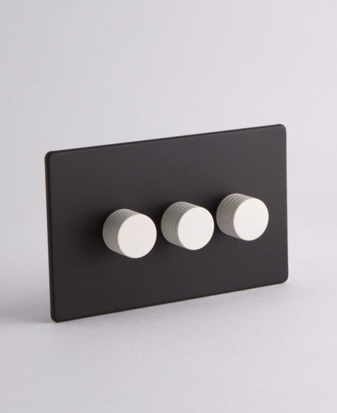 designer dimmer switch Treble black & white