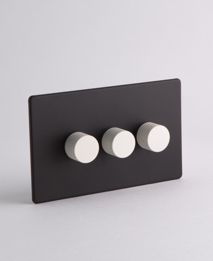 designer dimmer switch Treble black & white