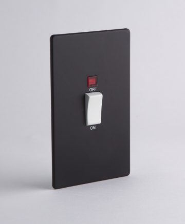 Cooker Switch 45 Amp Black & White