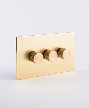 designer dimmer switch treble gold