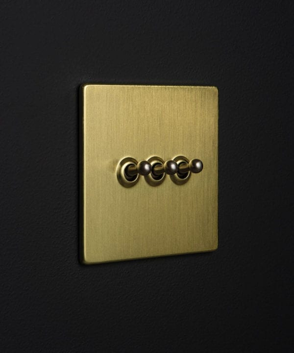 Gold Triple Toggle Silver Toggles