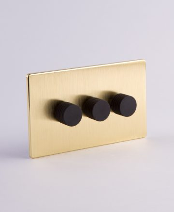 designer dimmer switch treble gold & black