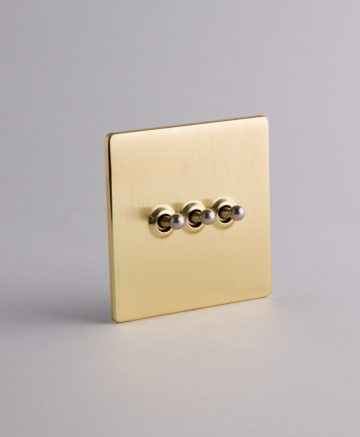 toggle light switch 3 toggle gold & silver