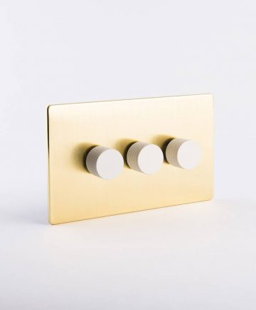 designer dimmer switch treble gold & white