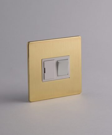 Fused Spur Switch Gold & White