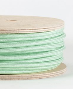 mint fabric cable on reel