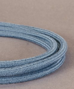 Muted Blue Fabric Cable for Lighting 8 Amp Double Insulated