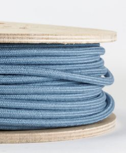 muted blue fabric cable