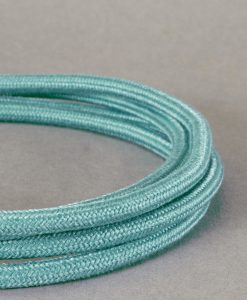Pale Teal Fabric Cable for Lighting 8 Amp  Double Insulated