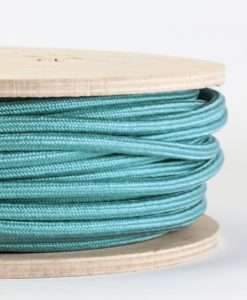 pale teal fabric cable