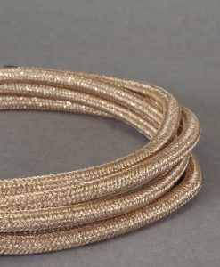 rose gold fabric cable