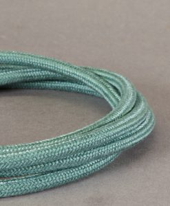 Sage Green Fabric Cable for Lighting 8 Amp Double Insulated