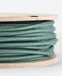 fabric lighting cable sage green
