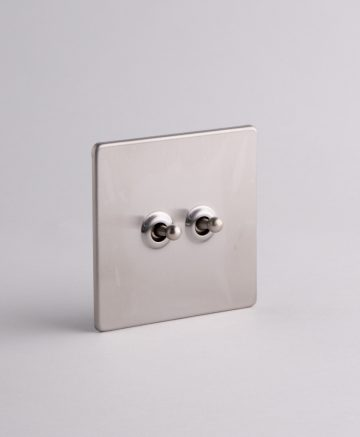 toggle light switch 2 toggle silver
