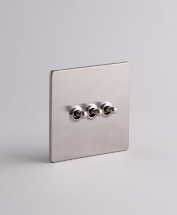 toggle light switch 3 toggle silver