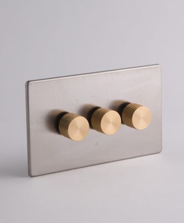 designer dimmer switch treble silver & gold