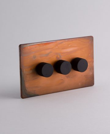designer dimmer switch Treble copper & black