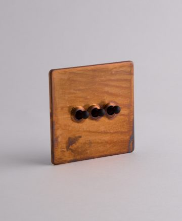 toggle light switch 3 toggle copper & black