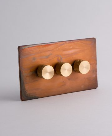 designer dimmer switch treble tarnished copper & gold