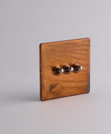toggle light switch 3 toggle copper & silver