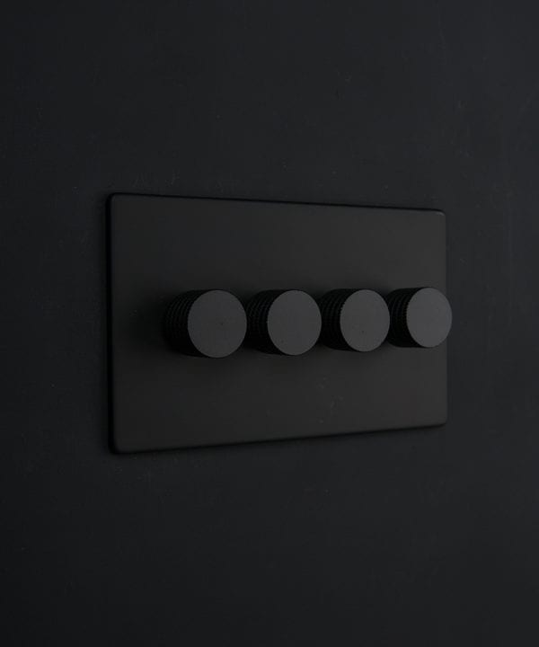black & black quad dimmer