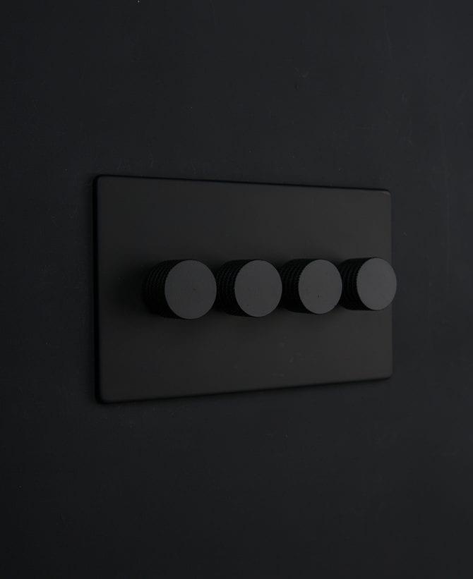 black & black quad dimmer