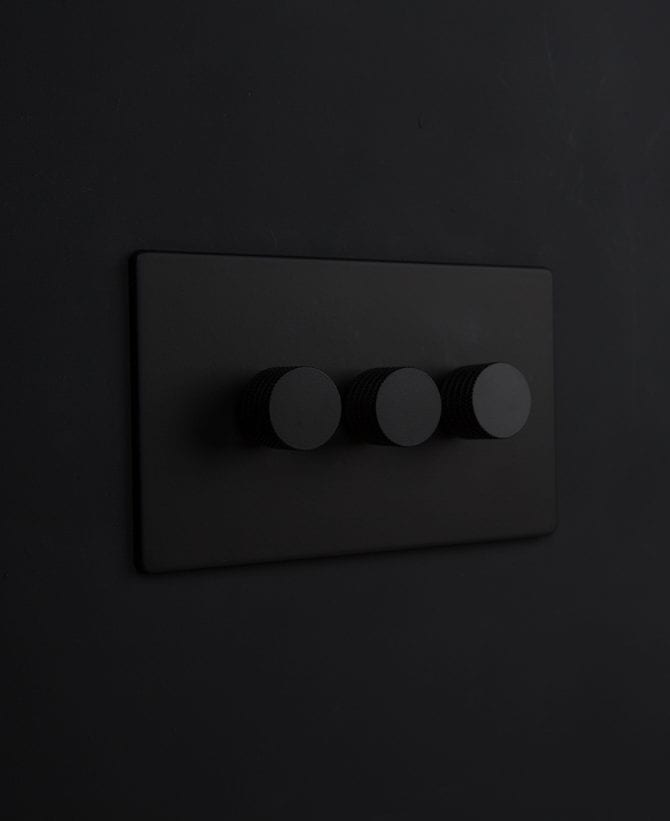 black & black triple dimmer