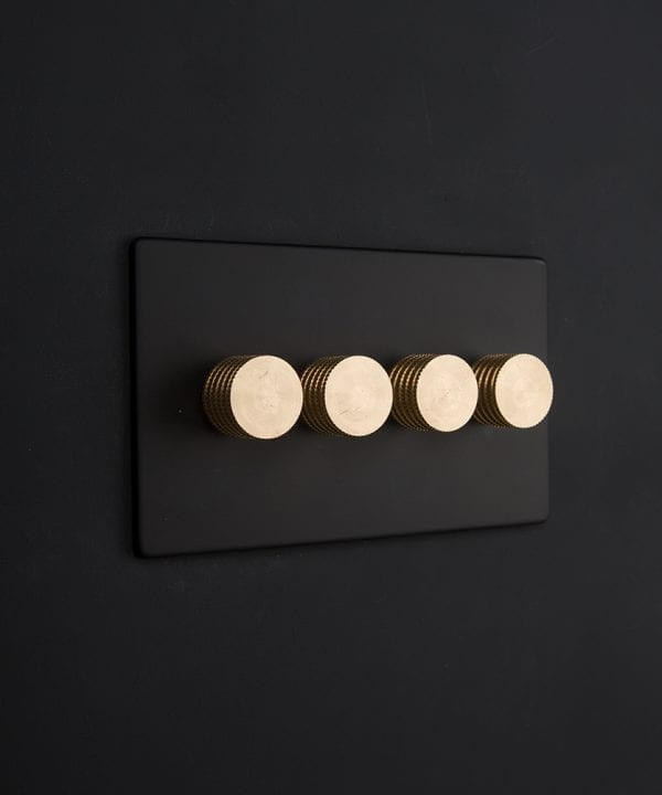 black & gold quad dimmer