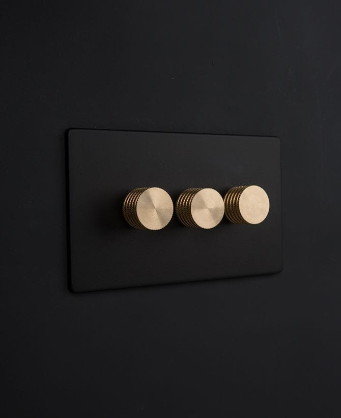 black & gold triple dimmer
