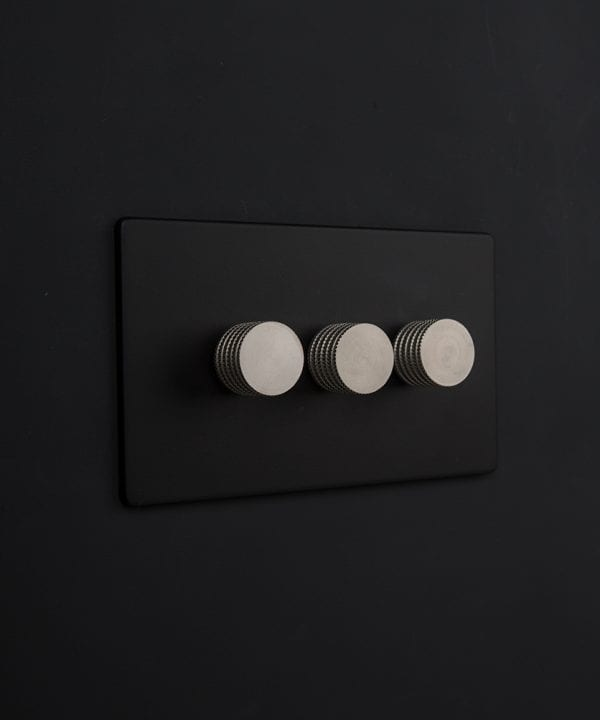 black & silver triple dimmer