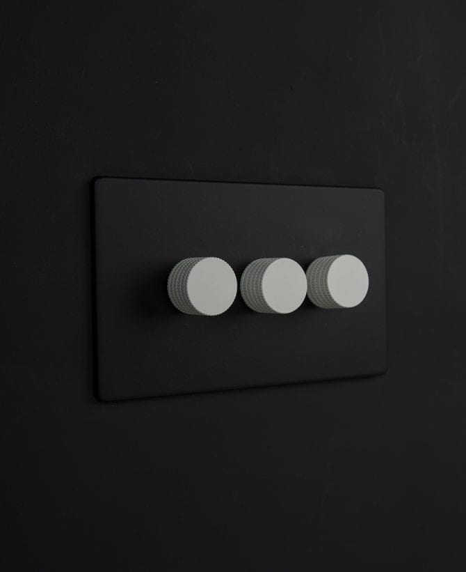black & white triple dimmer