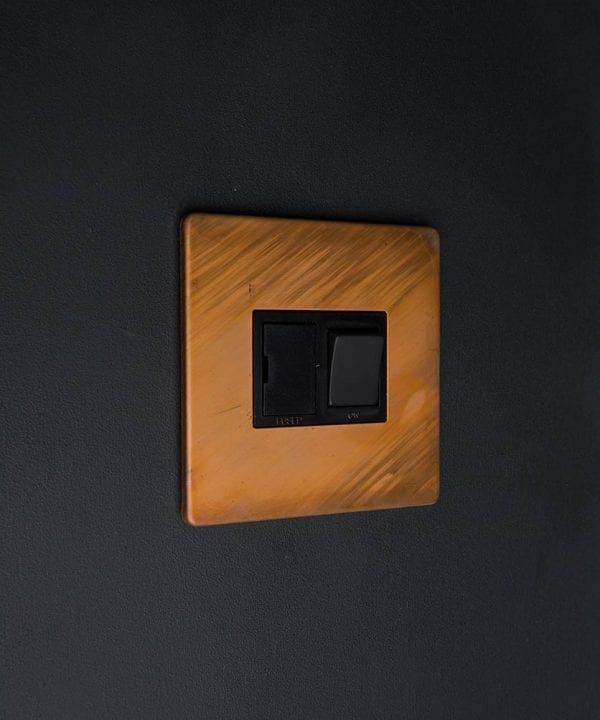 Copper & Black Fused Spur Switch