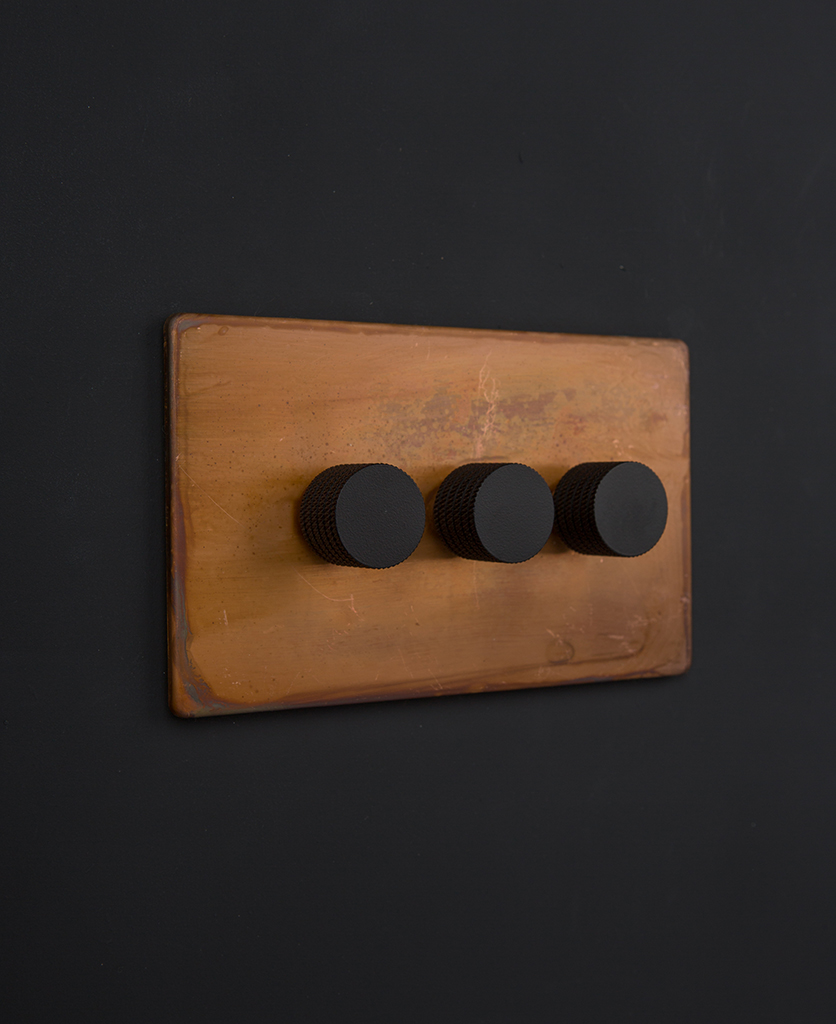copper & black triple dimmer