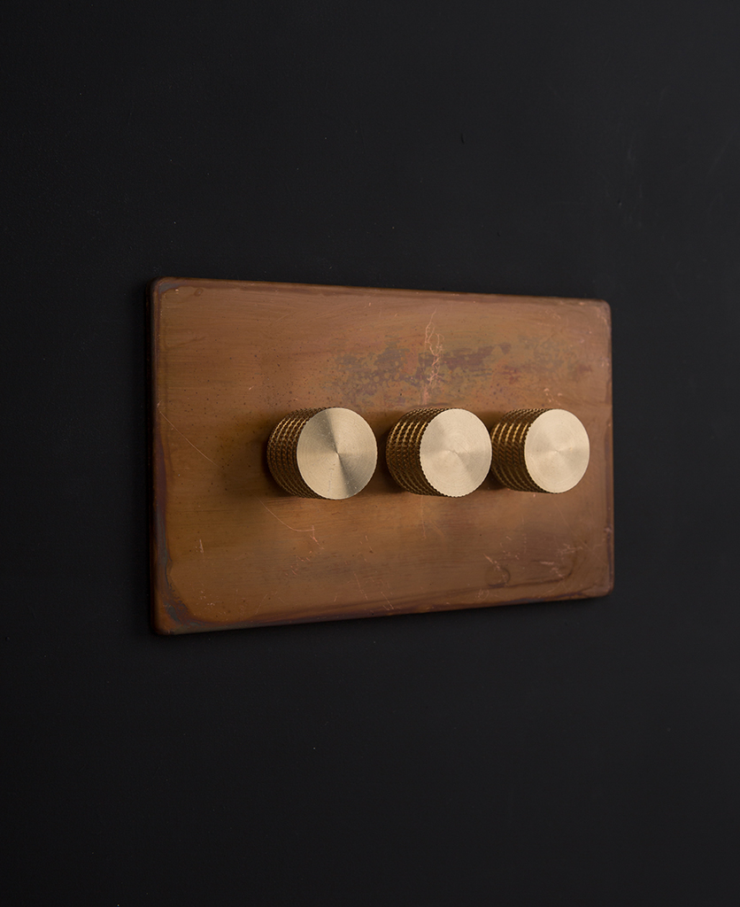 copper & gold triple dimmer