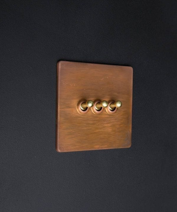 copper & gold triple toggle