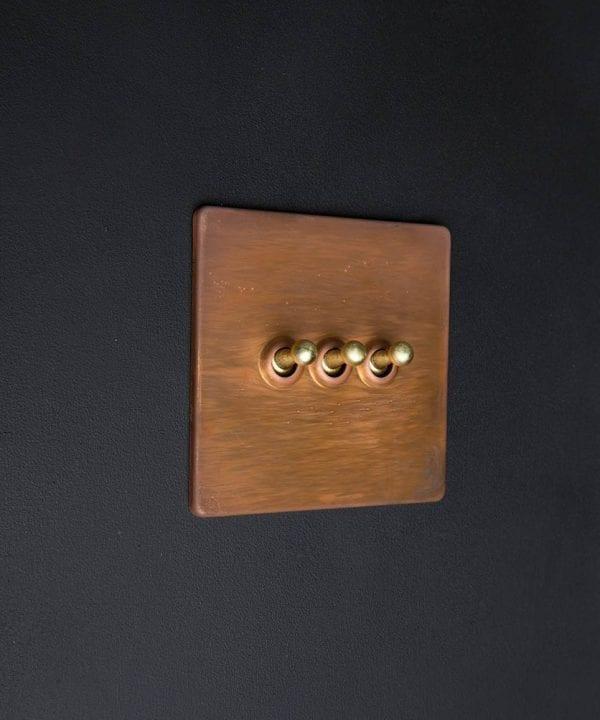 copper & gold triple toggle