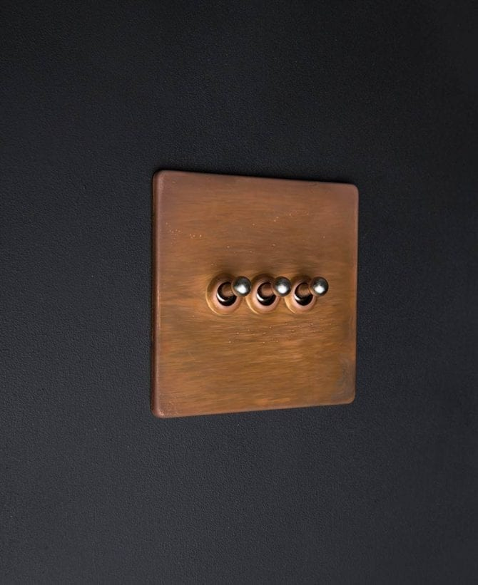 copper & silver triple toggle