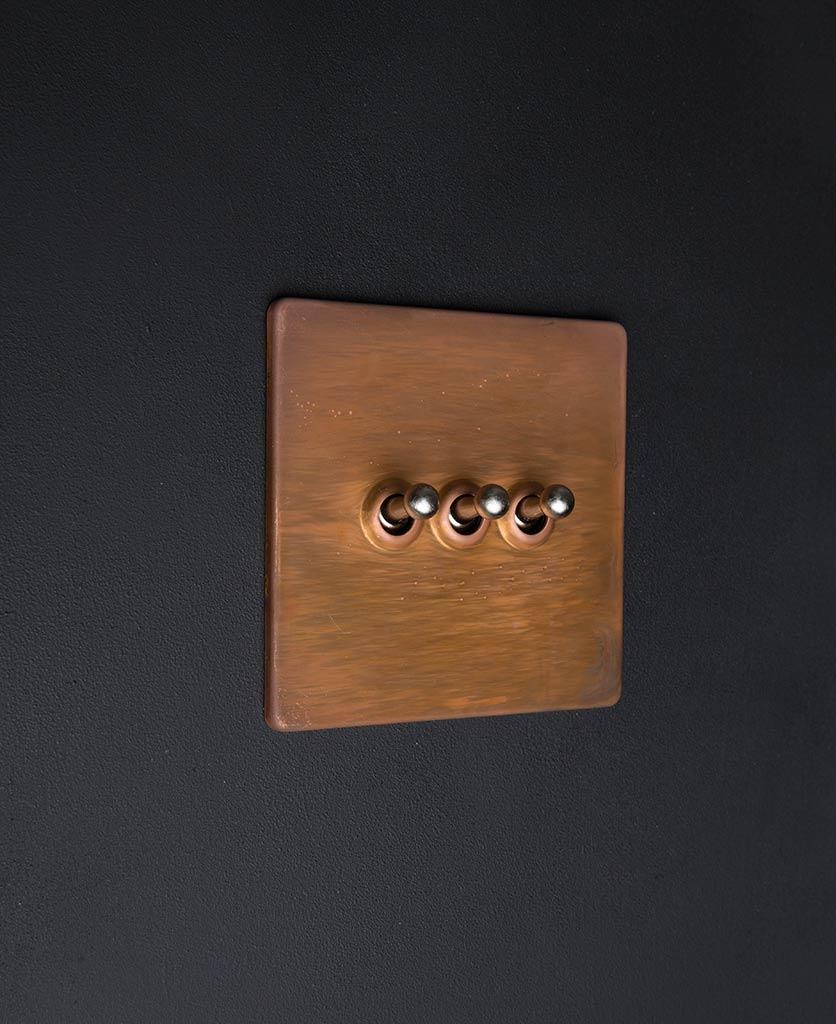 copper & silver triple toggle