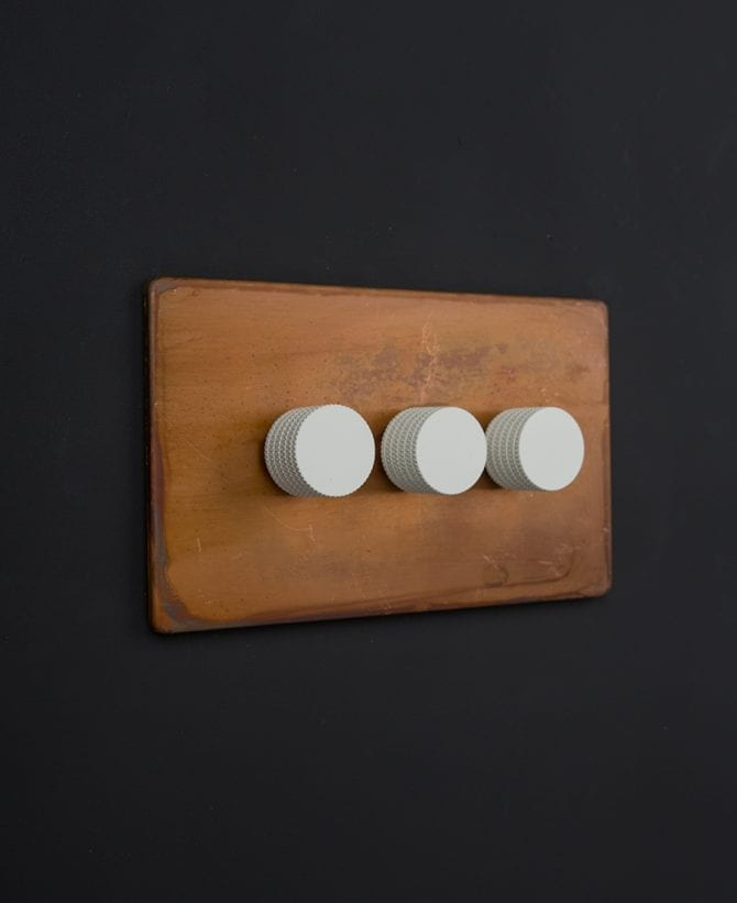 copper & white triple dimmer