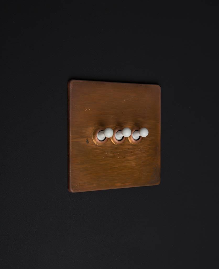copper & white triple toggle