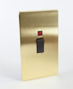 Cooker Switch 45 Amp Gold & Black