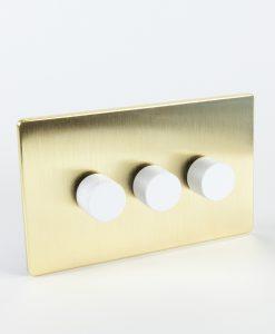 Designer Dimmer Switch Treble Gold & White Dimmer