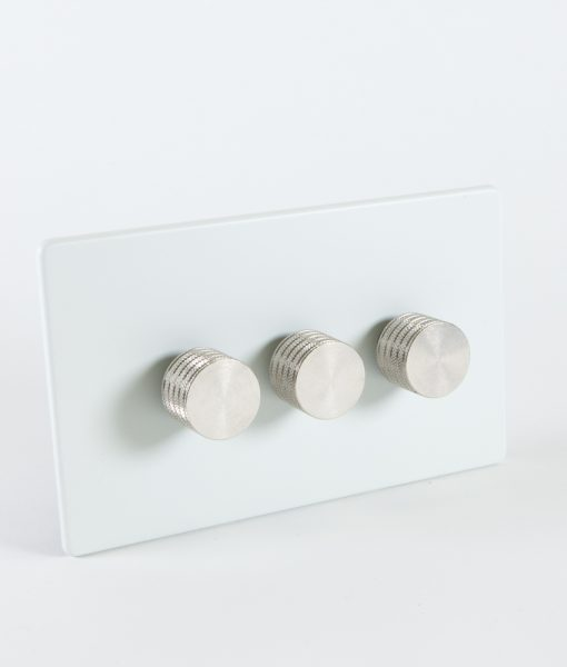 designer dimmer switch treble white silver switch. Black Bedroom Furniture Sets. Home Design Ideas