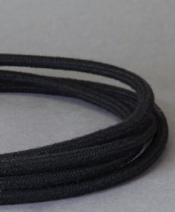 Matt Black Fabric Cable for Lighting 8 Amp CE Certified