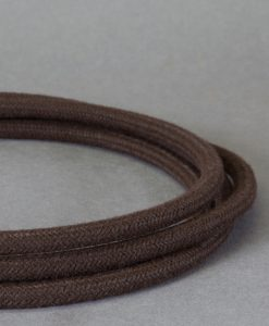 Matt Brown Fabric Cable for Lighting 8amp CE Certified