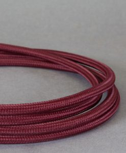 Burgundy Fabric Cable for Lighting 8 Amp CE Certified